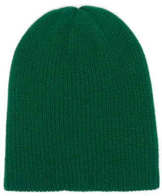 The Elder Statesman Watchman Ribbed Cashmere Beanie - Womens - Green