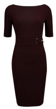 Dorothy Perkins Womens **Oxblood Hardware Bodycon Dress