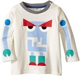 Fendi Long Sleeve T-Shirt w/ Monster Logo Graphic Boy's T Shirt