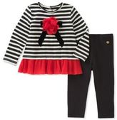 Kate Spade Baby Girl's Two-Piece Bow Applique Top and Basic Leggings Set