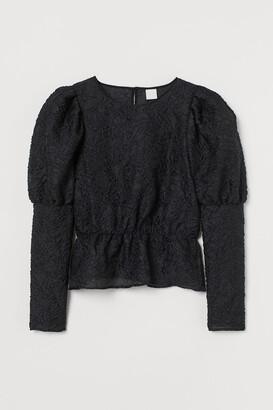 H&M Jacquard-weave blouse
