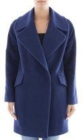 Tagliatore Women's Blue Wool Coat.