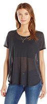 Scotch & Soda Maison Scotch Women's Basic Short Sleeve Tee with Longer Back in Special Qualities & Dessins T-Shirt,Petite