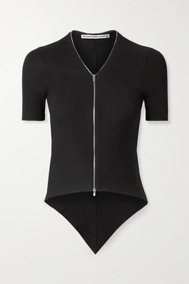Alexander Wang Ribbed Cotton Top - Black