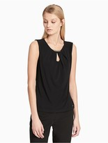 Calvin Klein Keyhole Sleeveless Jersey Top