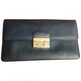 Prada Navy Leather Clutch bag
