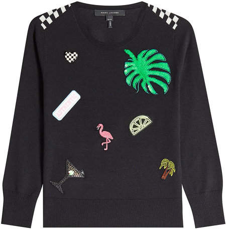 Marc Jacobs Wool Pullover with Patches