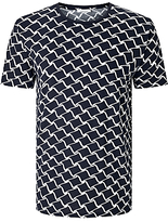 Samsoe & Samsoe Decatur Print T-shirt, Total Eclipse