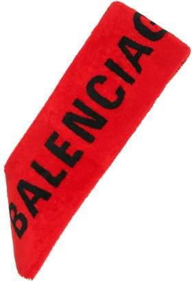 Balenciaga Shearling scarf