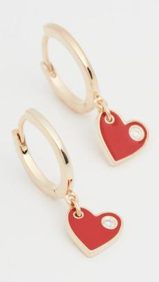 Jennifer Zeuner Jewelry Mia Enamel Huggies