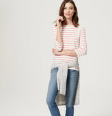 LOFT Petite Striped Boatneck Tee