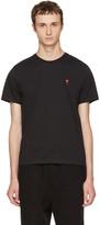 Ami Alexandre Mattiussi Black ami De Coeur T-shirt