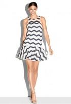 Milly Chevron Jacquard Jillian Dress
