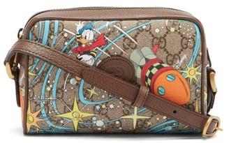 Gucci X Disney Donald Duck Gg Supreme Cross-body Bag - Brown Multi