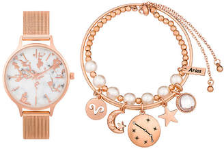 ALEXIS BENDEL Alexis Bendel Aries Womens Rose Goldtone 3-pc. Watch Boxed Set-7028r-42-F29