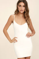 LuLu*s Whenever, Wherever White Bodycon Slip