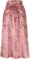 CITYSHOP velvet pocket skirt