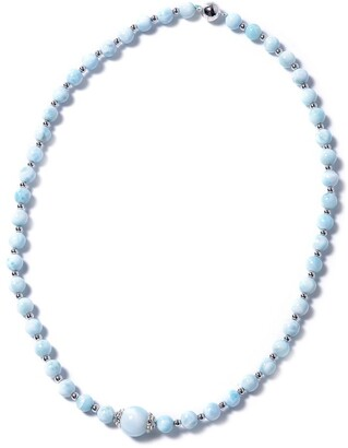 Shop Lc 925 Silver Larimar Necklace with Magnetic Clasp Size 18 In Ct 114 - Necklace 18''
