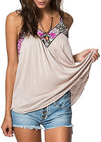 O'Neill Enzo Embroidered Knit V-Neck Tank Top