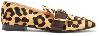Rupert Sanderson Charmer Leopard-print Calf-hair Loafers - Womens - Leopard