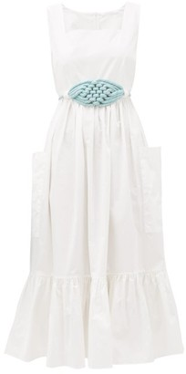 Binetti Love Simple Minds Tiered Cotton Dress - Womens - White