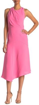 Reiss Rosina Broderie Asymmetrical Midi Dress