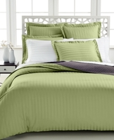 Charter Club CLOSEOUT! Damask Stripe 500 Thread Count Pima Cotton King Duvet Cover