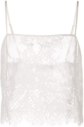 Fleur Du Mal All Over Lace Cami