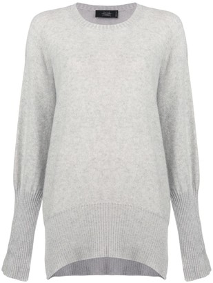 Maison Flaneur Draped Long-Sleeve Sweater