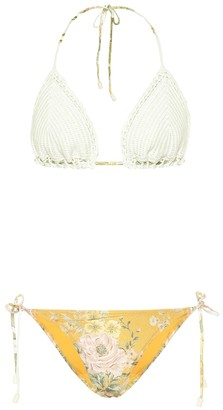 Zimmermann Amelie crocheted bikini