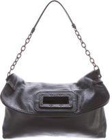 Tomas Maier Fold-Over Leather Shoulder Bag