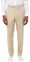 Jaeger Silk Linen Regular Fit Suit Trousers, Straw