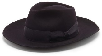 Lock & Co Hatters Stafford Escorial-wool Fedora - Navy