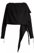 Vivienne Westwood Draped-side checked cotton top