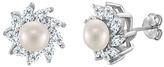 Bliss Pearl & Cubic Zirconia Marquise-Cut Burst Stud Earrings