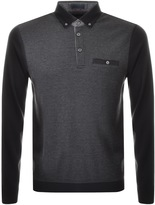 Ted Baker Wool Pak Polo T Shirt Black