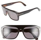 Tom Ford Women's 'Conrad' 58Mm Sunglasses - Black/other/ Smoke