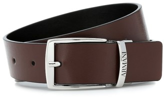 Emporio Armani Kids Reversible faux-leather belt