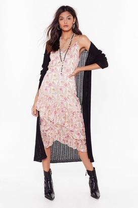 Nasty Gal Womens All Sheer Say Floral Midi Dress - Beige - 8