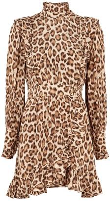 Zimmermann Lucky leopard-print silk mini dress
