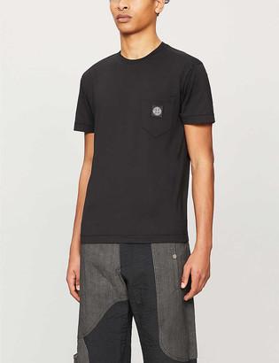 Stone Island Patch pocket cotton-jersey T-shirt