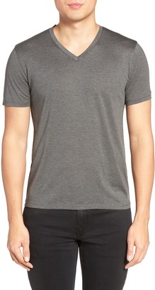 Theory Silk & Cotton V-Neck T-Shirt