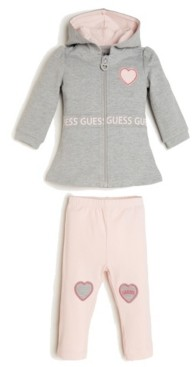 GUESS Girls French Terry Hoodie and Legging Set