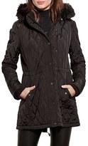 Lauren Ralph Lauren Women's Quilted Anorak With Faux Fur Trim