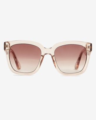 Express Clear Frame Sunglasses