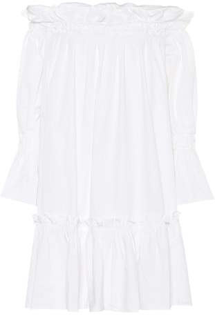 Edit Off-the-shoulder cotton dress