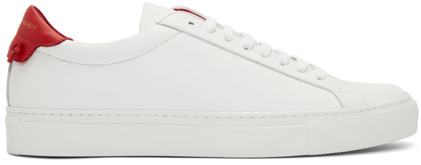 Givenchy White and Red Urban Knots Sneakers