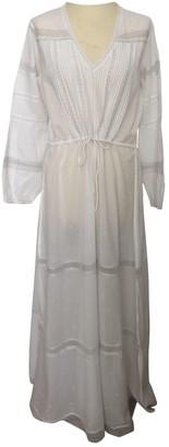 Swildens White Cotton Dress for Women