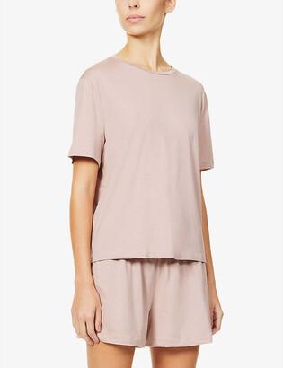 Organic Basics Round-neck stretch-woven T-shirt