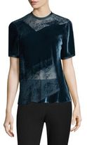 Donna Karan Crewneck Burnout Blouse
